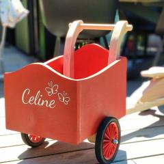 Made a wooden cargo bike for my godchild